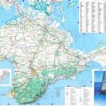 Самая подробная карта Крымского полуострова. Пригодится тем, кто планирует путешествовать по Крыму на машине