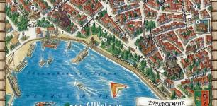 ЕВПАТОРИЯ. Подробная карта Евпатории с названием улиц и обозначением основных объектов