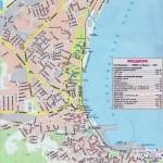 Курортная карта Феодосии с пансионатами и базами отдыха, указаны все службы и вокзалы