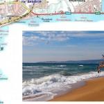 Карта побережья Феодосии для отдыха