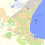 Подробная карта Феодосии с улицами и номерами домов