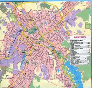 Карта Симферополя с улицами и номерами домов