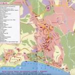 Карта Схема города Судак с улицами и названиями объектов