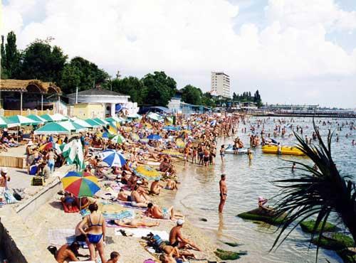 Веб камера на городском пляже Феодосии онлайн