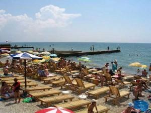 Веб камера на пляже поселка Приморский Феодосия