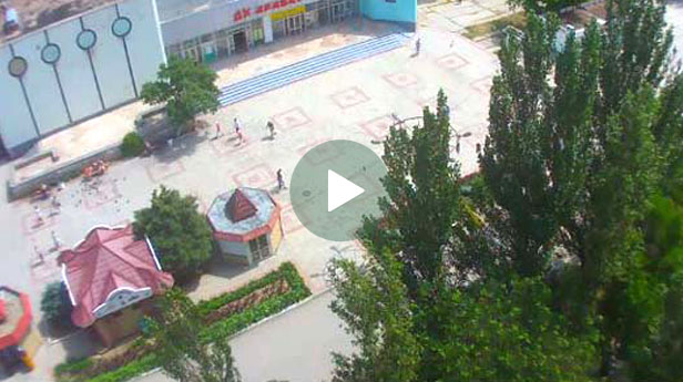 Веб-камера Щелкино. Центральная площадь и ДК Арабат