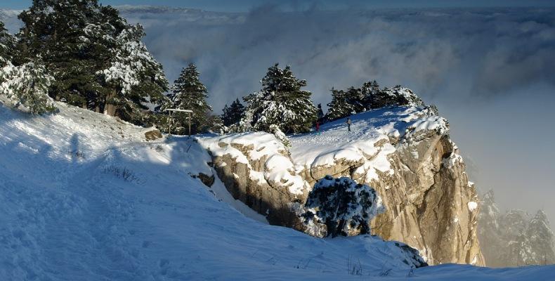 Скалы Ай-Петри зимой - Фото 11