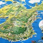 Карта Крыма с обозначением основных достопримечательностей. Самая известная из крымских карт