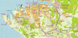 СЕВАСТОПОЛЬ. Карта Севастополя, с основными достопримечательностями, и окрестностями