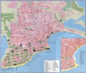 Карта Евпатории с санаториями, пансионатами и пляжами