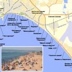 Карта пляжей в Феодосии