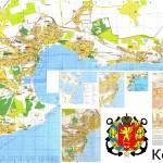 Подробная карта Керчи с улицами и номерами домов