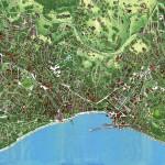 Подробная карта Ялты с домами и дорогами