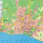автомобильная карта Алушты
