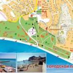 Карта пляжей в городе Судак