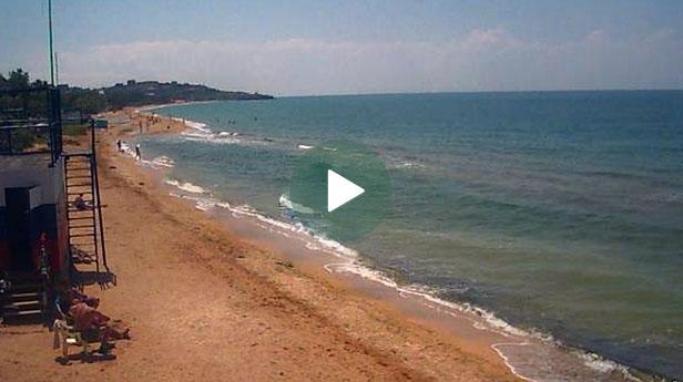 Веб-камера Щелкино. Набережная и пляж